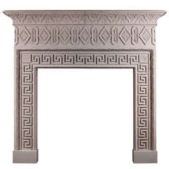 Large Stone Italian Fireplace Mantel in the 18th Century Style