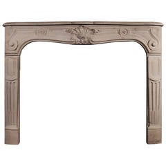 French Louis XV Stone Mantelpiece, Fireplace