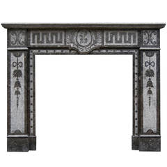 Arts & Crafts Fireplace Mantel in Belgian Fossil Marble