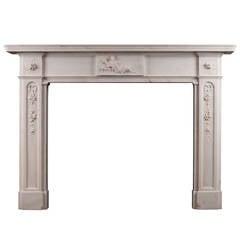 Period Regency Statuary Marble Fireplace Mantel
