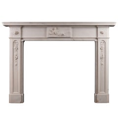 Period Regency Statuary Marble Fireplace Mantel