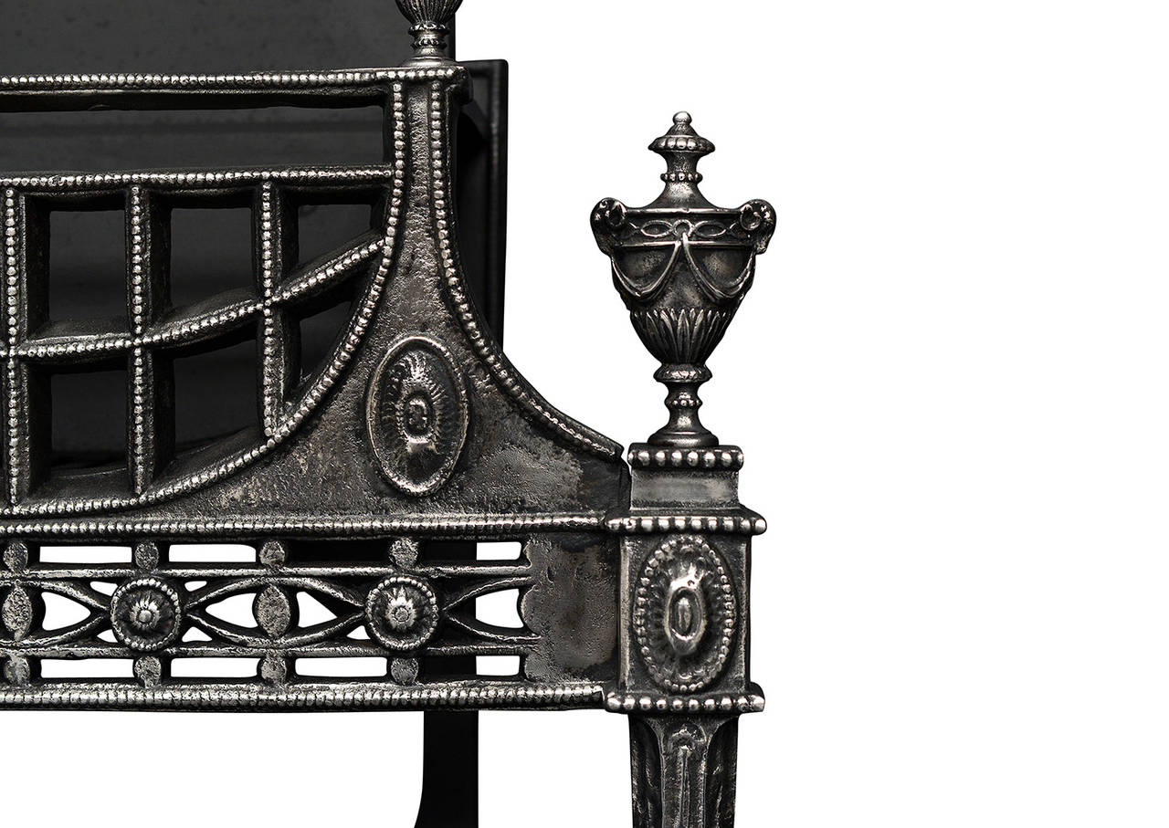 cast iron fireplace grate of small or medium scale at 1stdibs