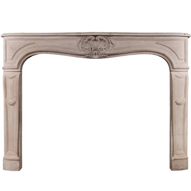 19th century french louis xv style limestone fireplace mantel at 1stdibs