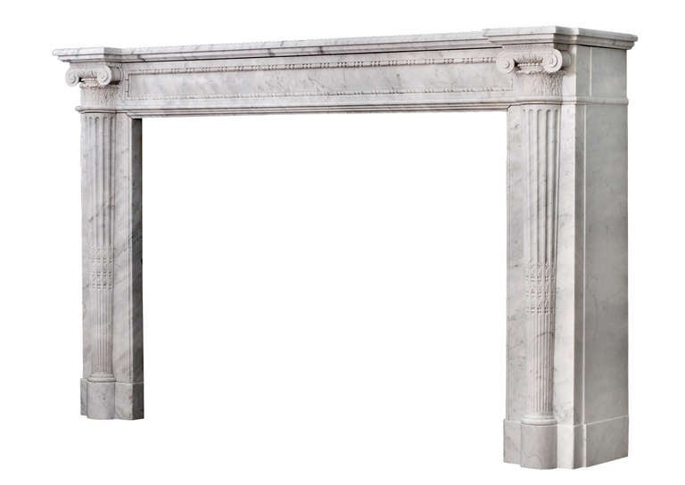 Early 19th Century Louis XVI Style Marble Fireplace For Sale 1