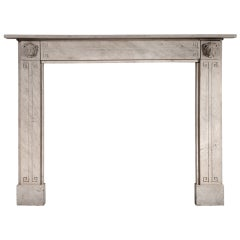 19th Century Regency Limestone Mantelpiece