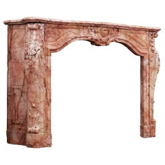 French Louis XIV/XV Transitional Chimneypiece
