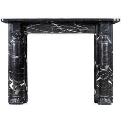 A 19th C. English Black Marble Mantelpiece