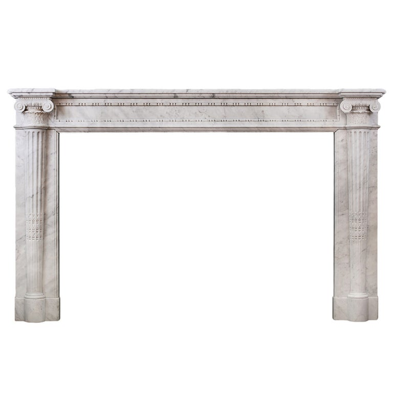 Early 19th Century Louis XVI Style Marble Fireplace For Sale