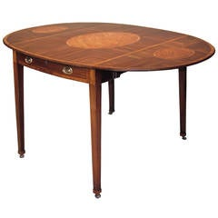Large Oval Mahogany Pembroke Table