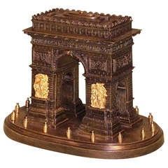 19th Century French Bronze and Ormolu Model of the Arc de Triomphe
