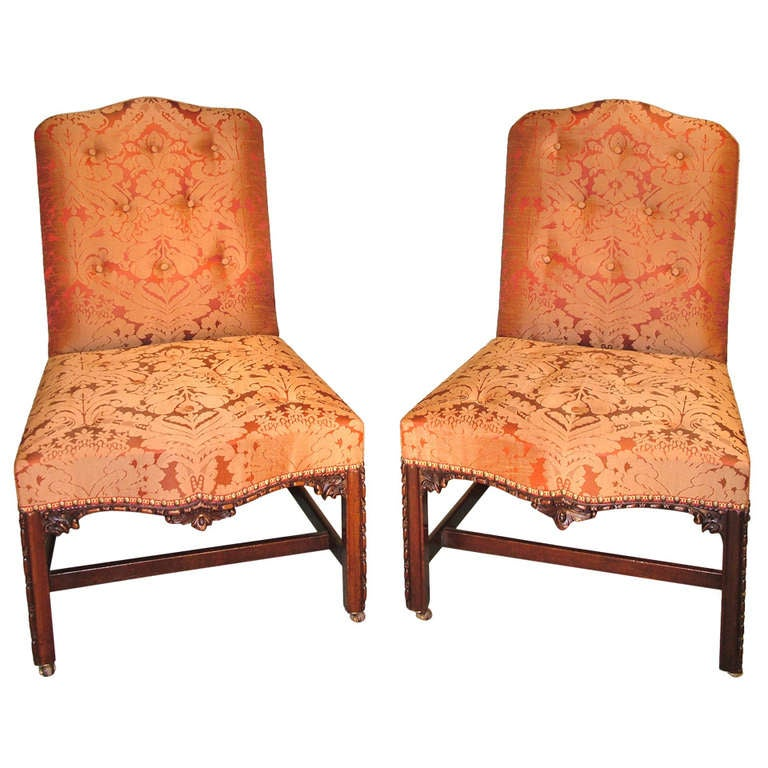 18th Century Chippendale Mahogany Side Chairs