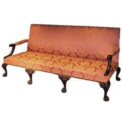 George II Revival Mahogany Settee