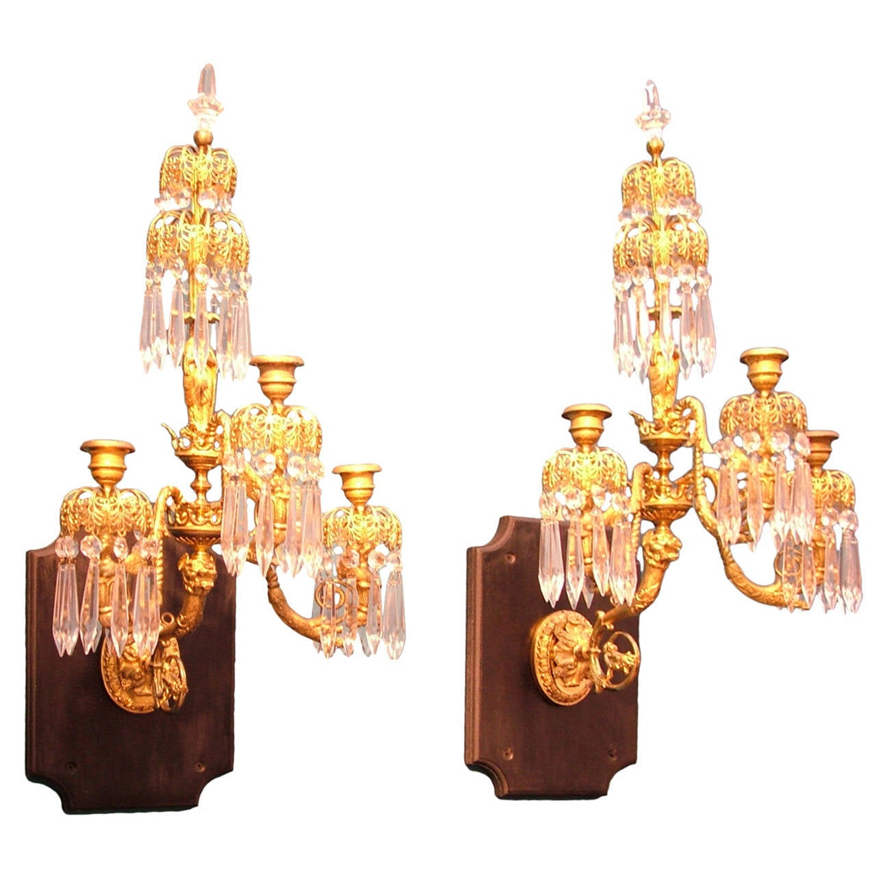 Wall Lights For Period Homes : A pair of Regency period gilt bronze Wall Lights. at 1stdibs