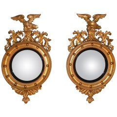 19th Century Giltwood Convex Mirrors