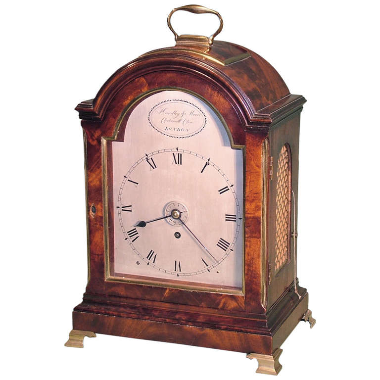 English Bracket Clock, 19th Century Georgian For Sale at 1stdibs