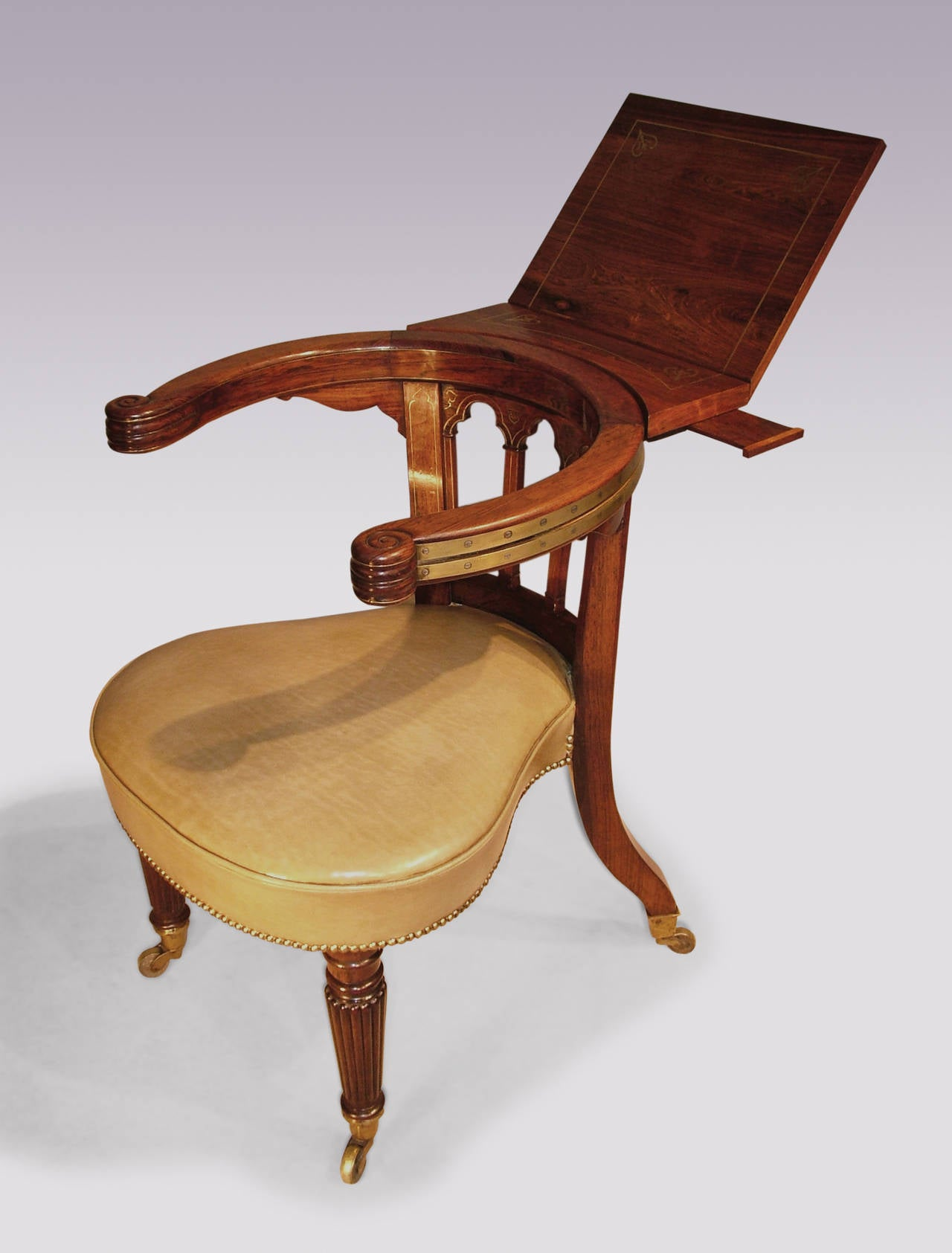 century regency period gillows rosewood reading chair at 1stdibs