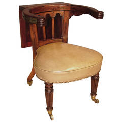 "Early 19th Century Regency Period ""Gillows"" Rosewood Reading Chair"