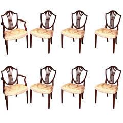 18th Century Hepplewhite Mahogany Dining Chairs