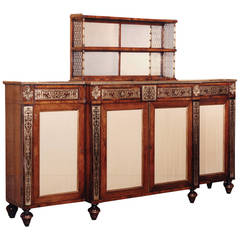 Regency Rosewood and Brass Chiffonier, after Designs by John Mclean