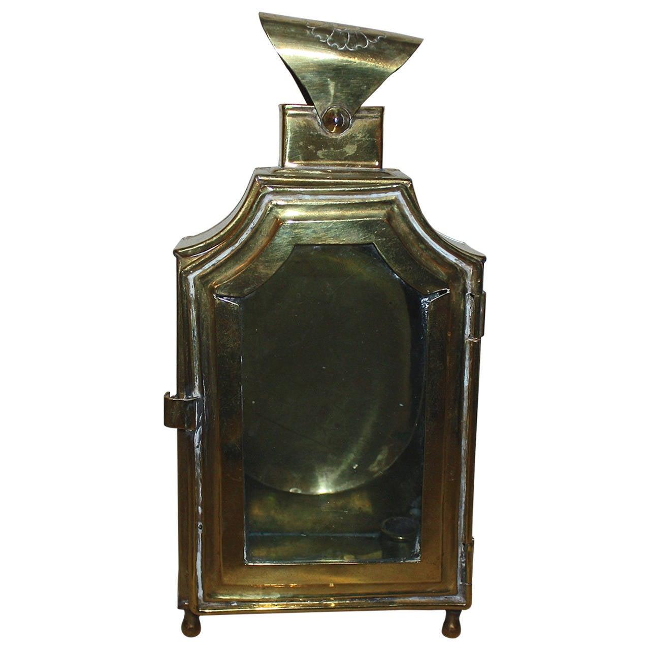 18th Century Rococo Brass Lantern