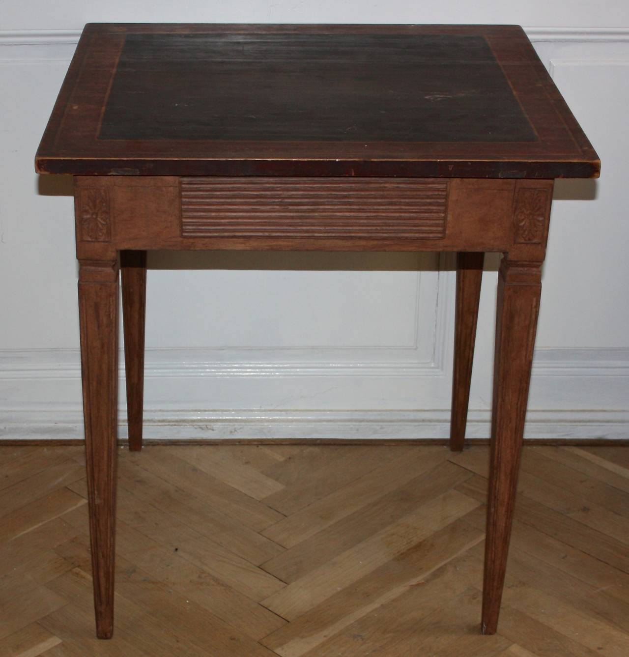 Th century gustavian side table or small writing desk at