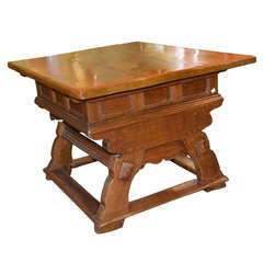 Early 18th Century Danish Folk Kitchen Table