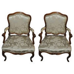 18th c. Pair of Rococo Armchairs