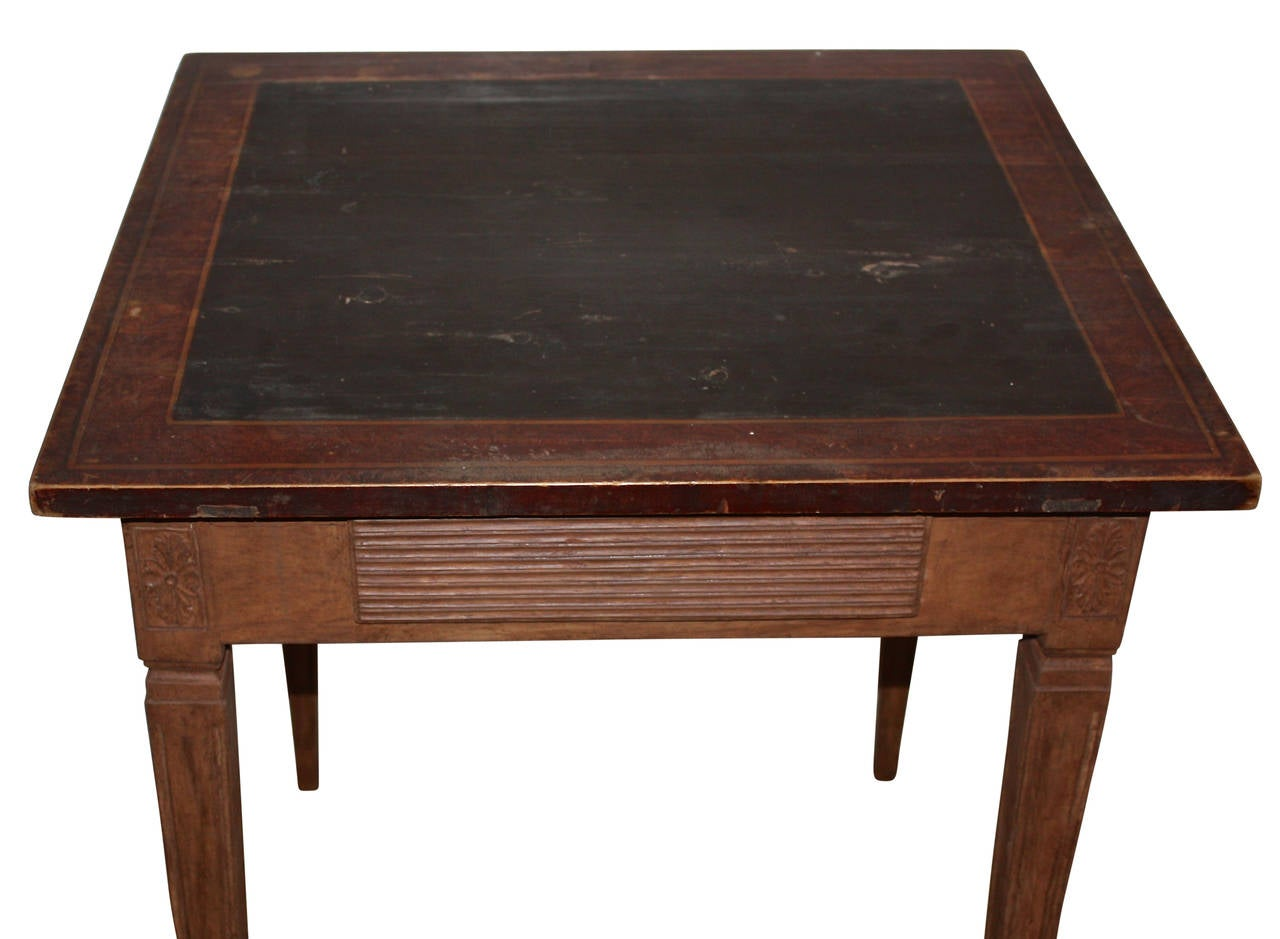 19th Century Gustavian Side Table Or Small Writing Desk At