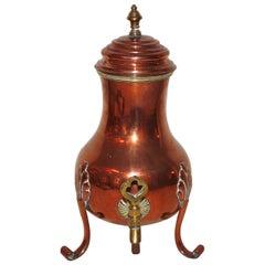 18th Century Rococo Copper Samovar