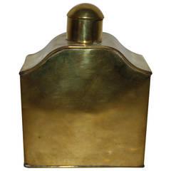 19th Century Victorian Brass Tea Caddy