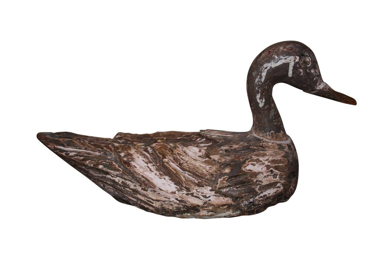 19th Century Carved Wooden Decoy Duck At 1stdibs