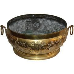 Rococo Brass Firewood Bucket