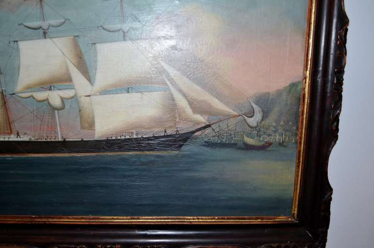 19th Century Painting of the Royal Danish Vessel For Sale 4
