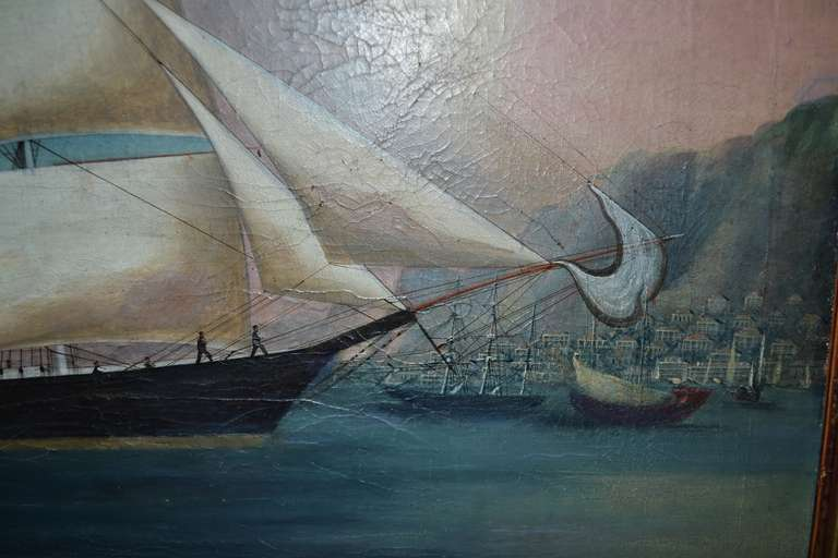 19th Century Painting of the Royal Danish Vessel For Sale 1