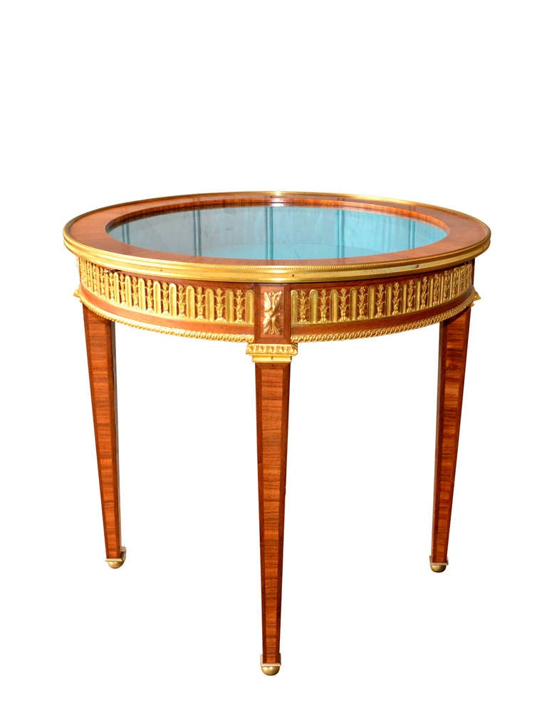 19th century empire vitrine table at 1stdibs for Table vitrine