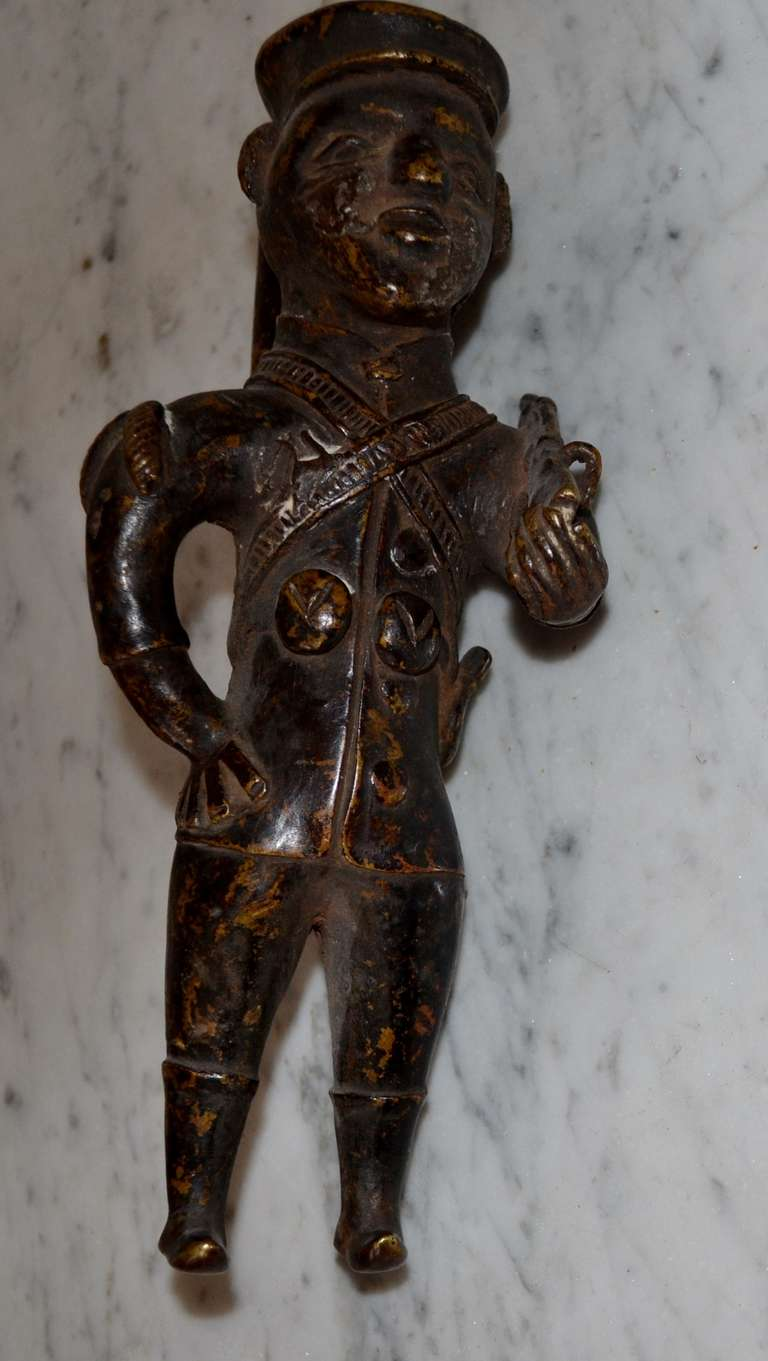 Congolese 19th Century Bronze Pipe For Sale