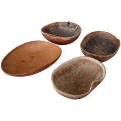 18th Century Wooden Dairy Bowls