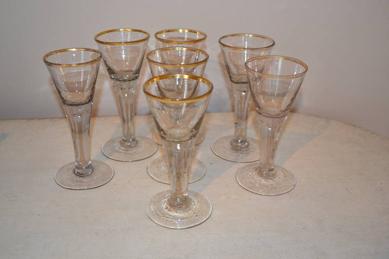 German 18th Century Baroque Glasses For Sale