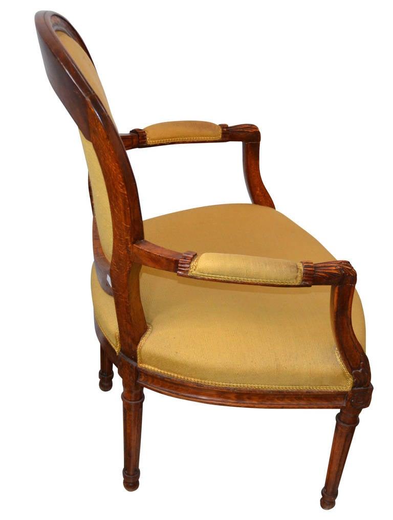 19th c louis xvi medaillion chair for sale at 1stdibs - Louis th chairs ...