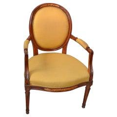 19th c. Louis XVI Medaillion Chair.
