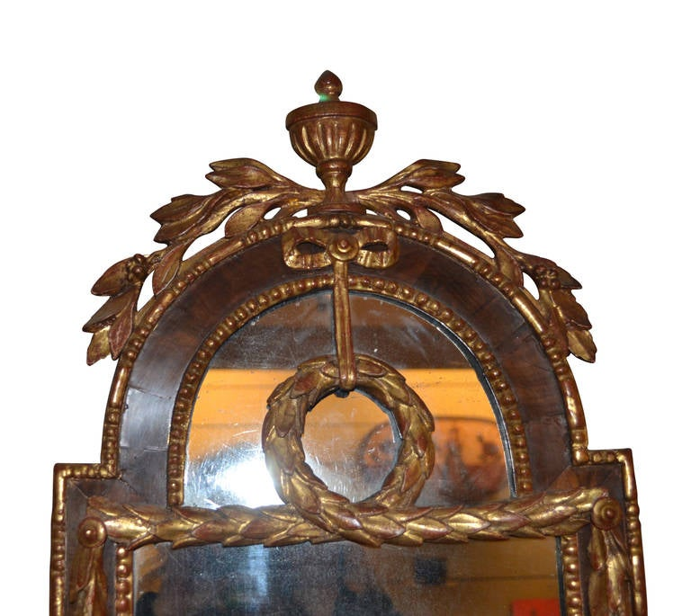 Veneer 18th Century Louis XVI Altona Mirror For Sale