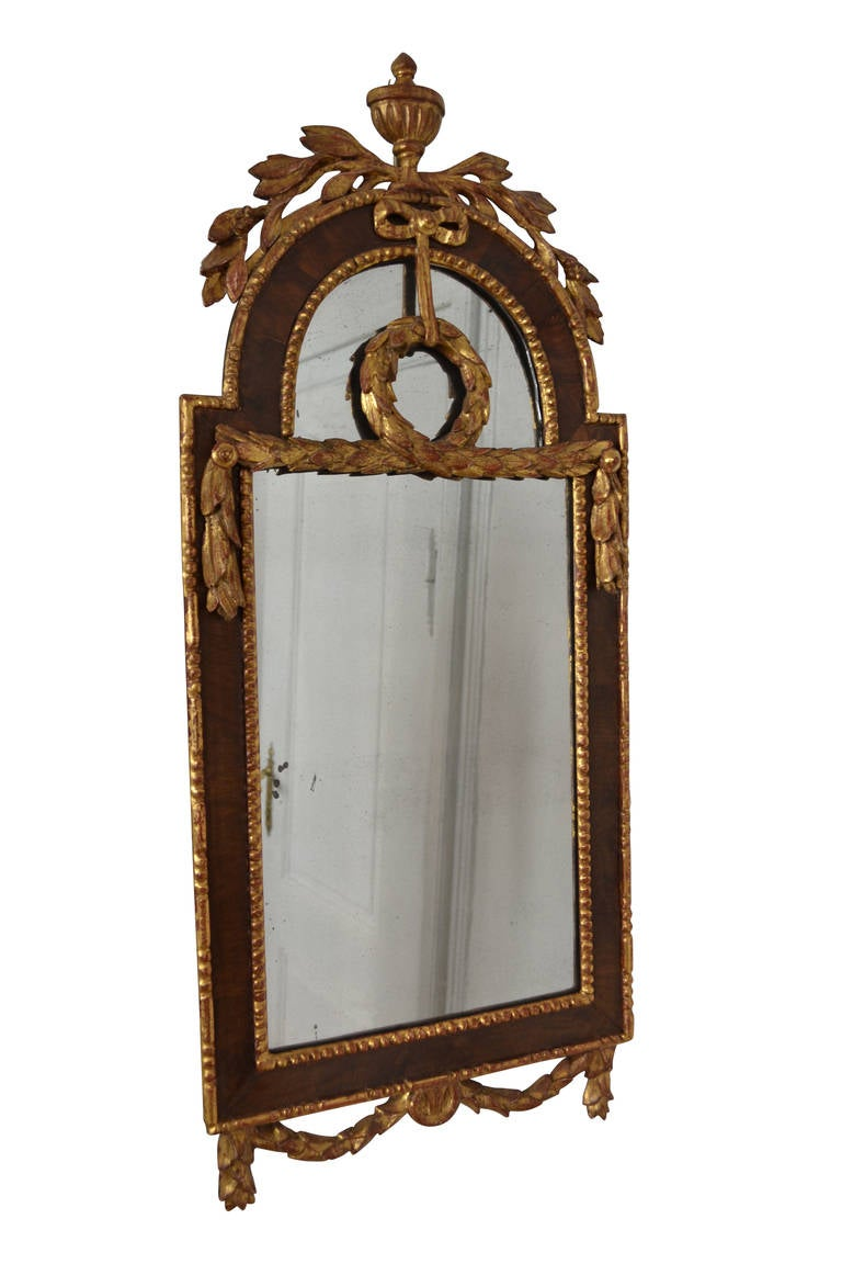 Very nice Louis XVI mirror with the distinct Altona shape.