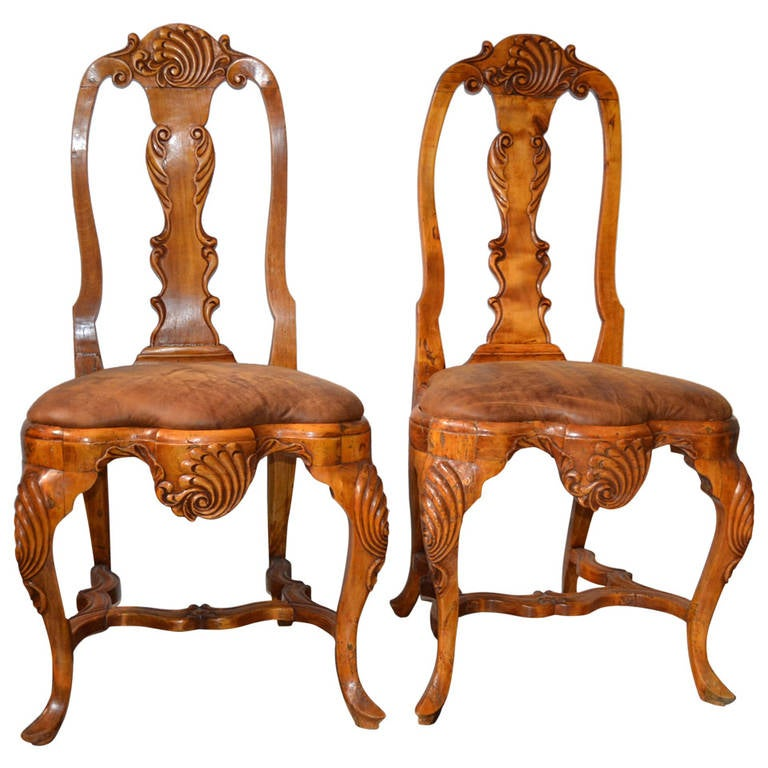 18th Century Pair of Rococo Chairs
