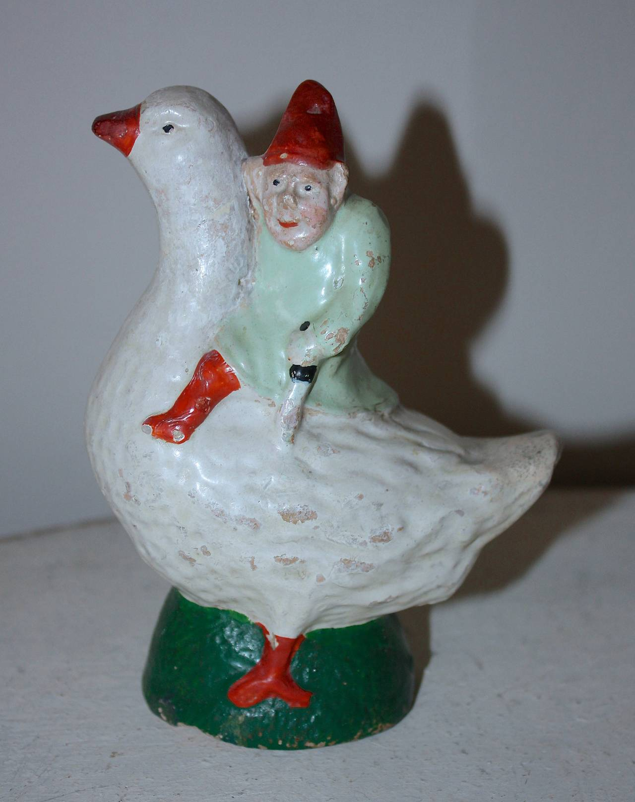 Christmas Elf On Goose Money Bank For Sale At 1stdibs