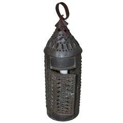 American 19th Century Metal Folk Art Farm Lantern