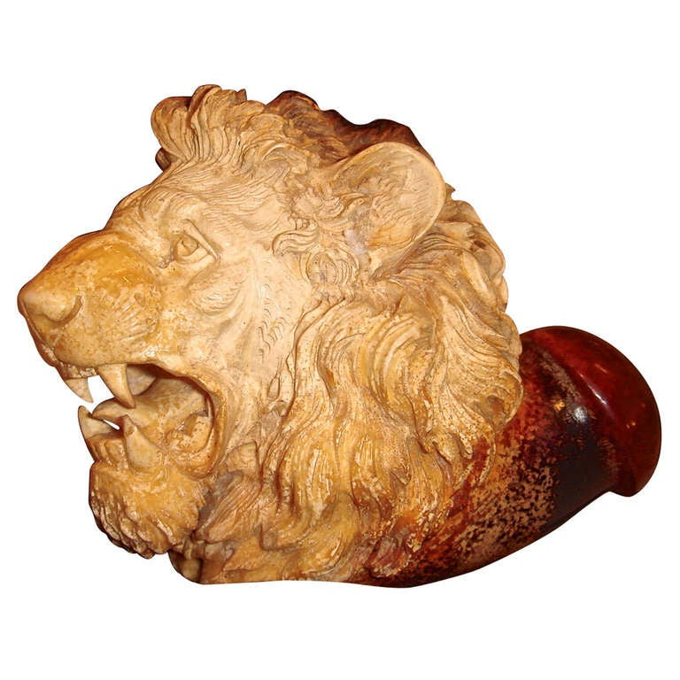meerschaum pipe tobacco head lioness at 1stdibs