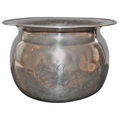 Early 19th Century Pewter Saucepan or Flowerpot