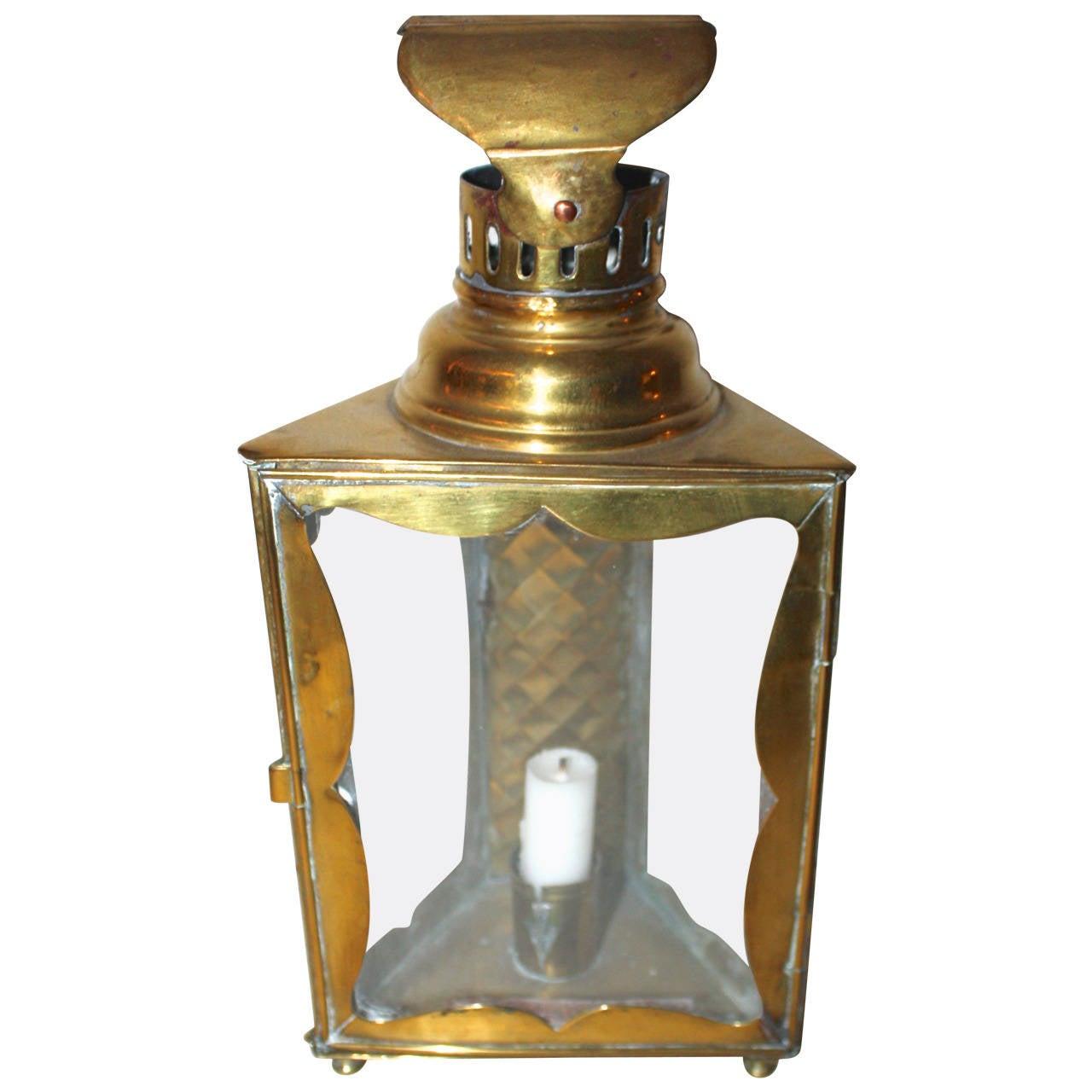 18th Century Big Brass Lantern