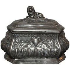 Rococo Pewter Tea Caddy