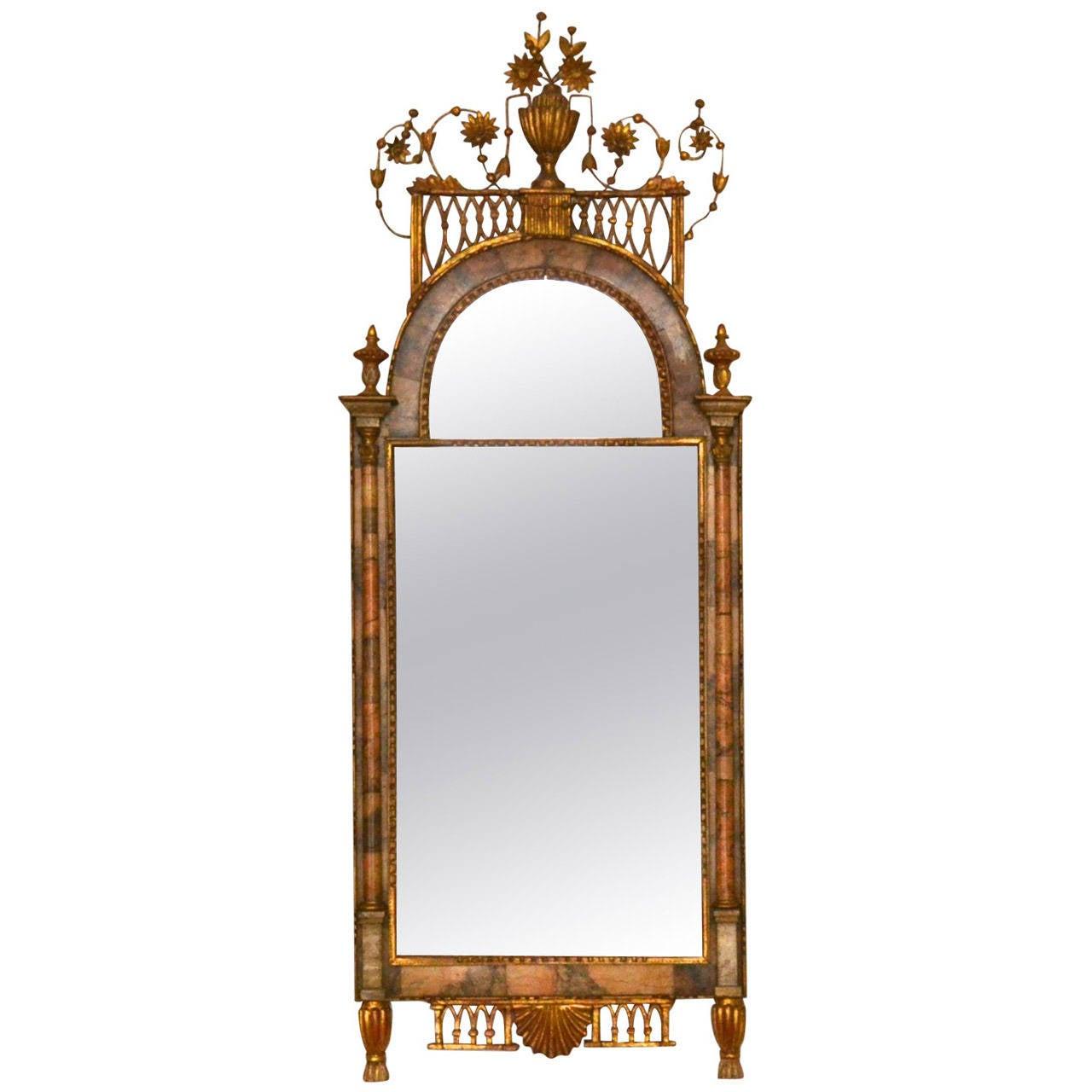 18th Century Altona Mirror with Bilbao Marble